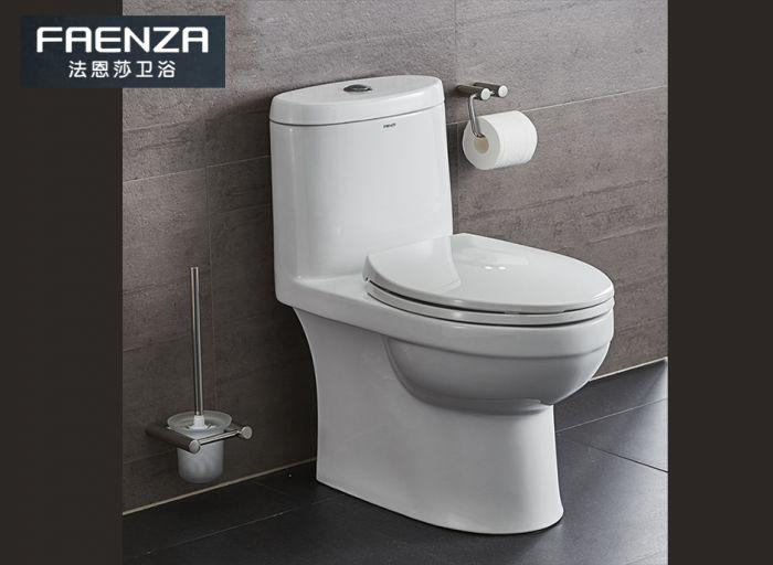 法恩莎(FAENZA)马桶 坐便器坐厕座便器 虹吸式 快拆缓降节水马桶 编号:ECS001868