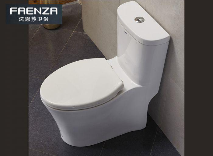 法恩莎(FAENZA)马桶连体静音座便器防臭节水马桶金马桶奖卫浴坐便器 编号:ECS001866